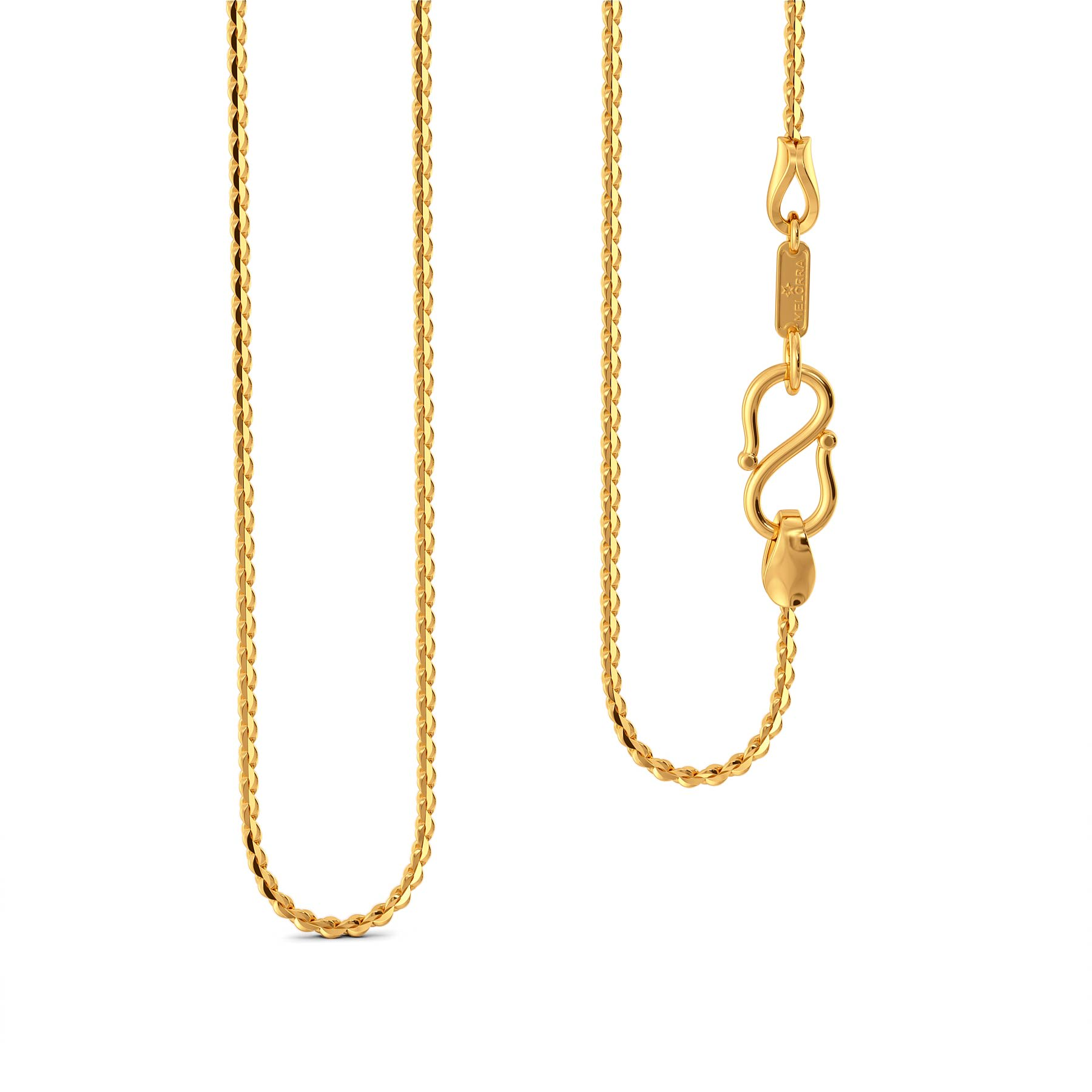 22kt S V Chain Gold Chains