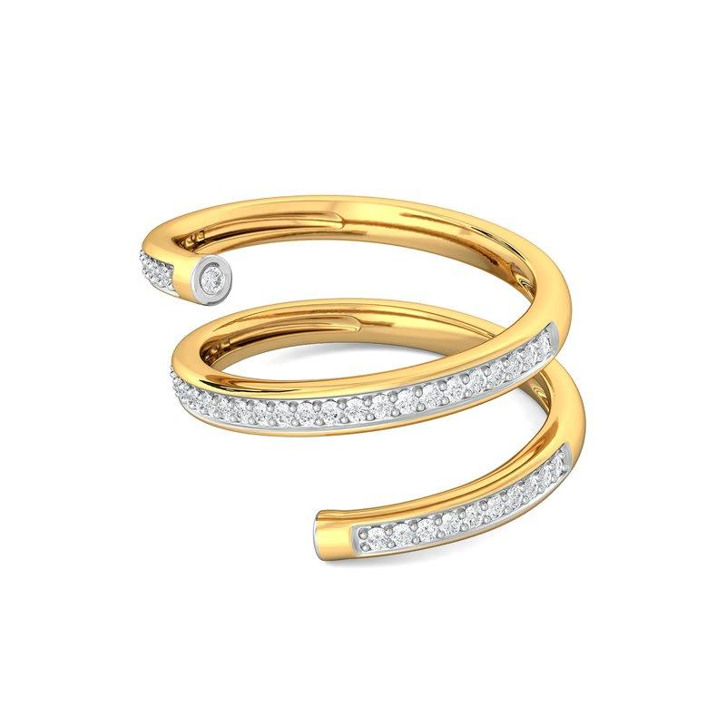 Helix Elixir Diamond Rings