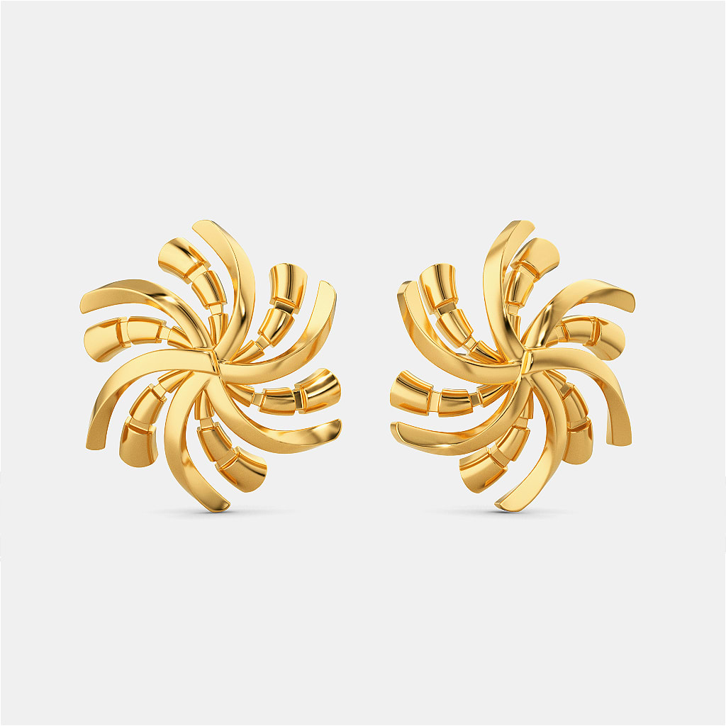 Disco Chic Gold Earrings