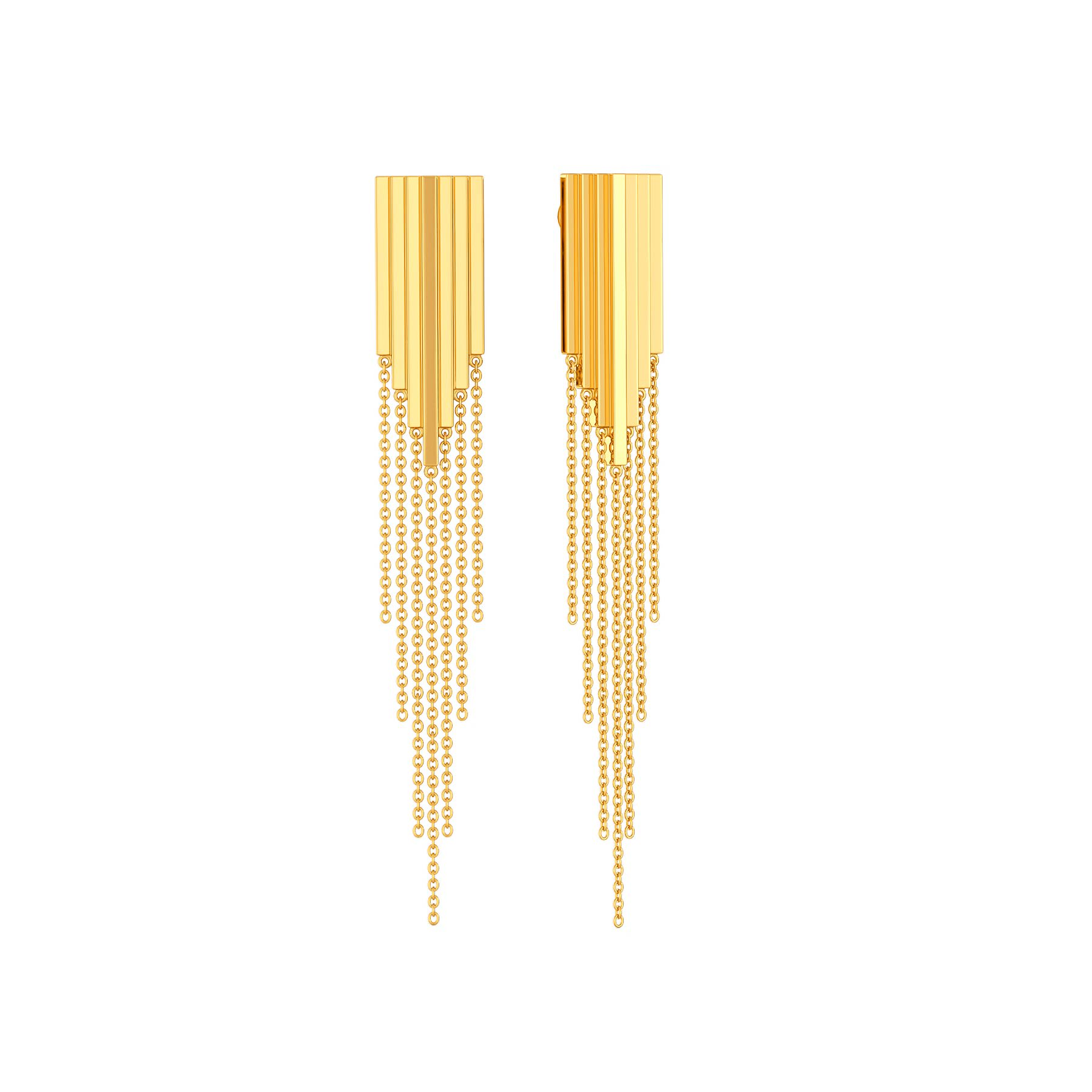 Fringe O Fashion Gold Earrings