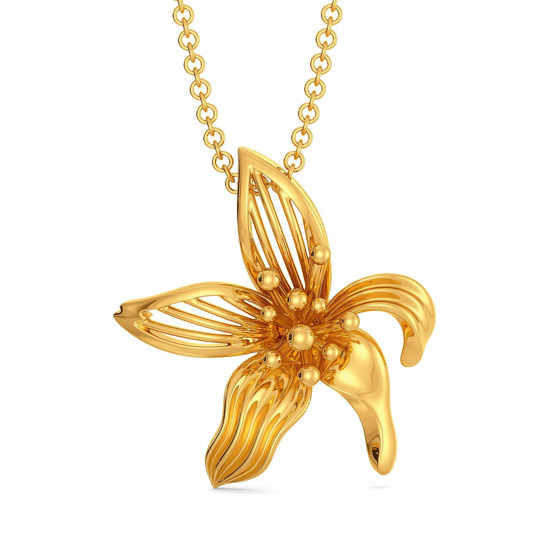 Flor de Magnolia Gold Pendants