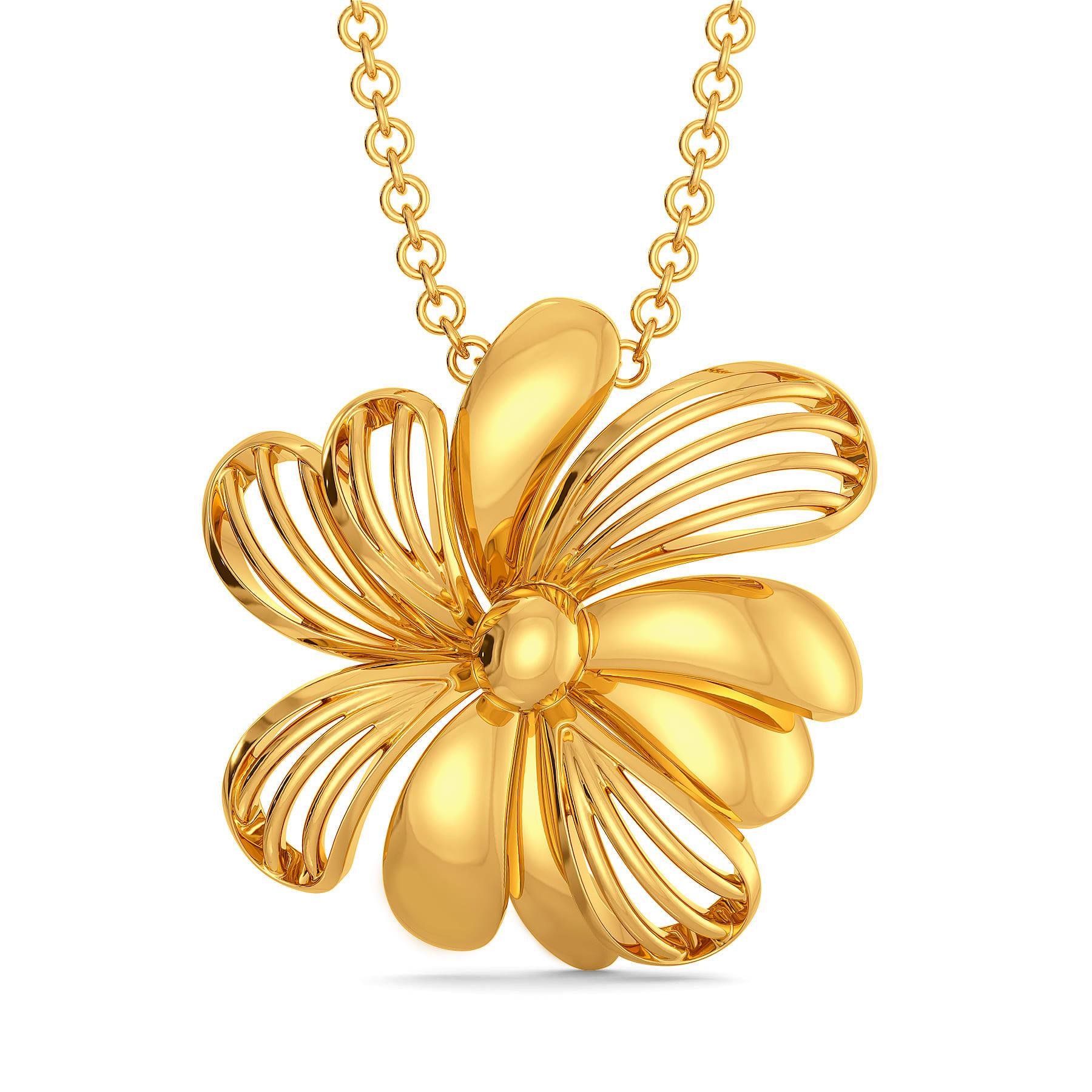 Joli Petale Gold Pendants