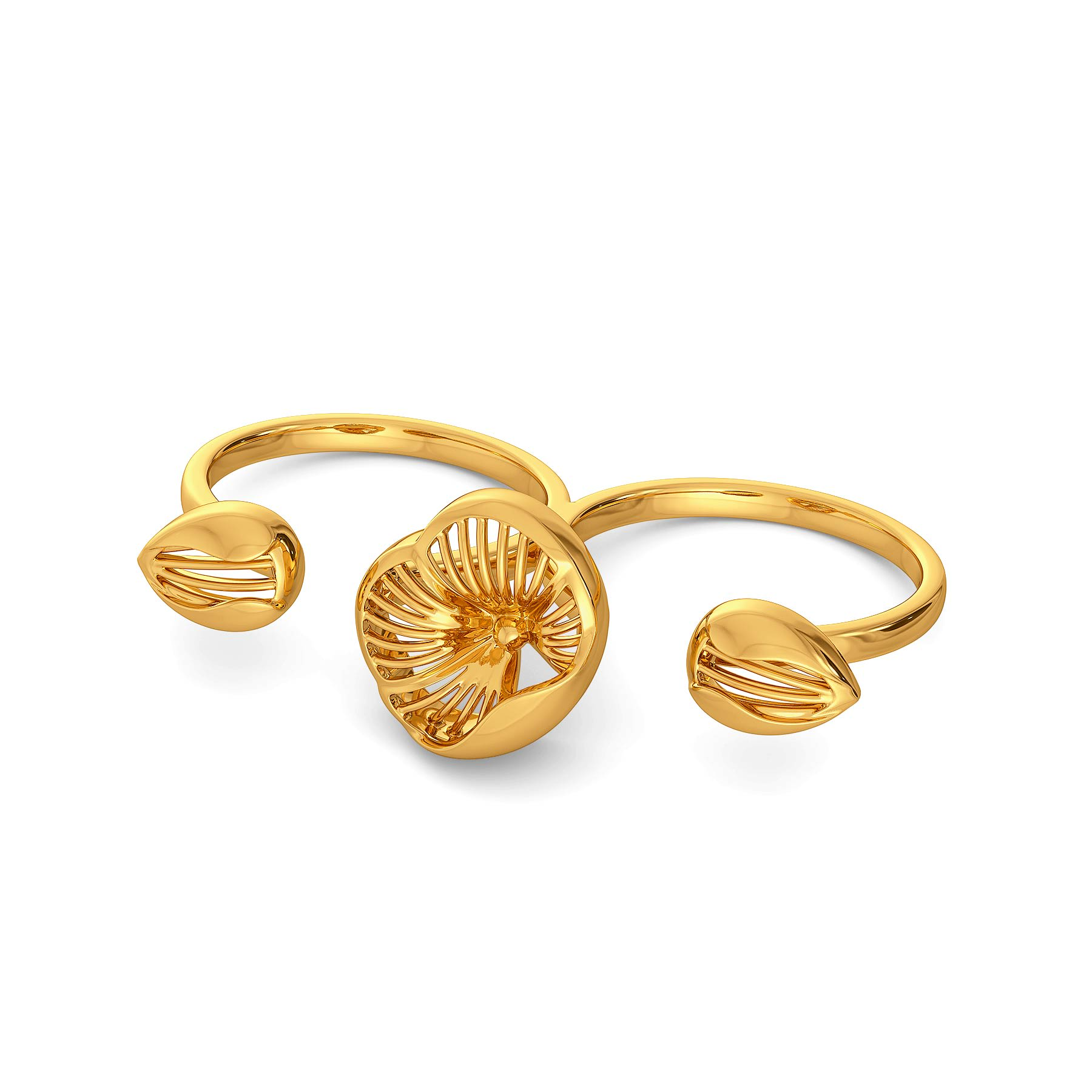 Floral Dew Gold Rings