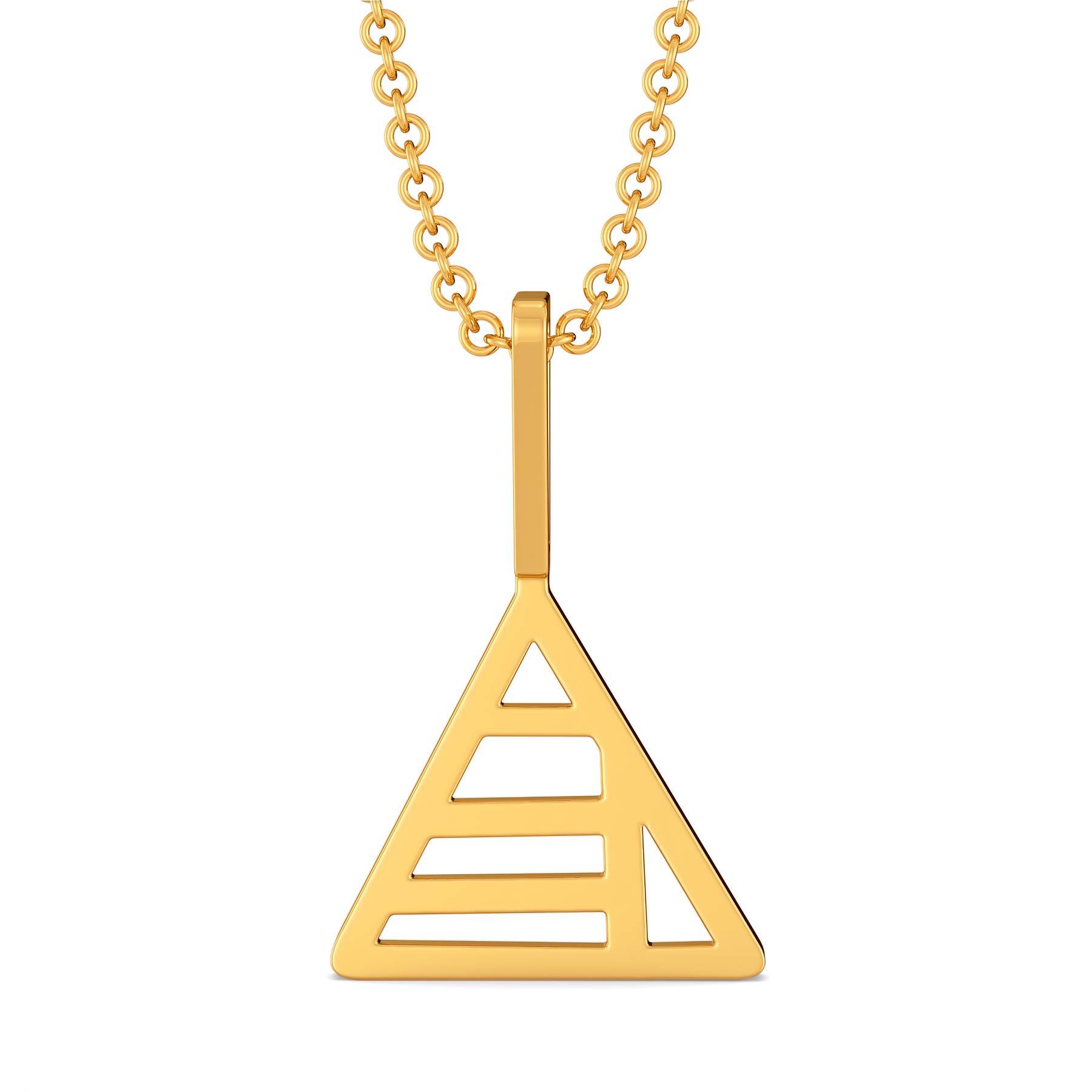 Geometrix Gold Pendants