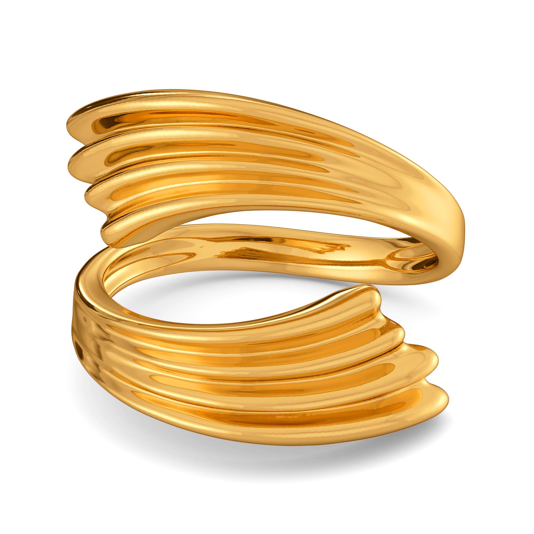 Graceful Folds Gold Rings
