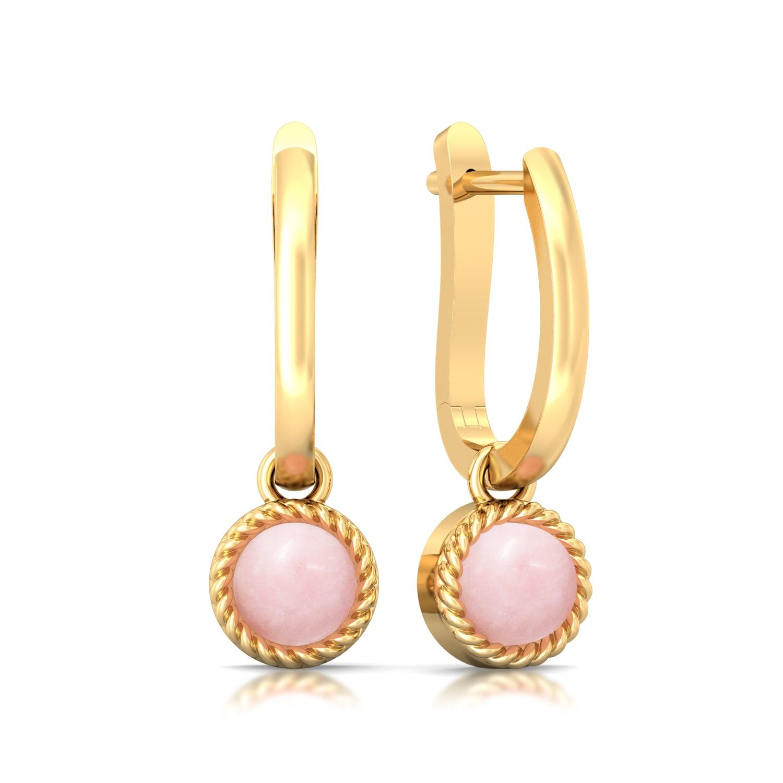 Ballet Pink Gemstone Earrings