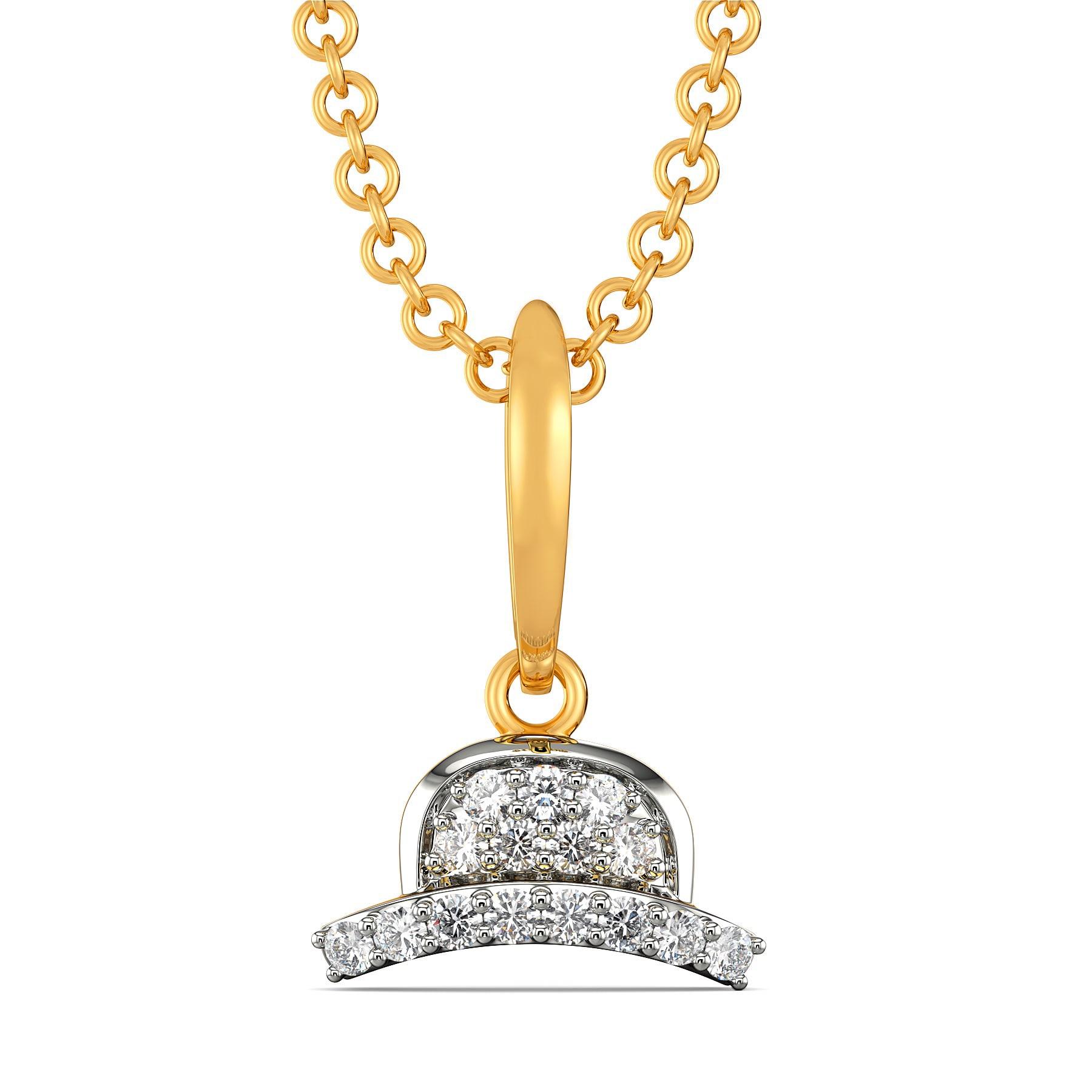 Trilby Tiers Diamond Pendants
