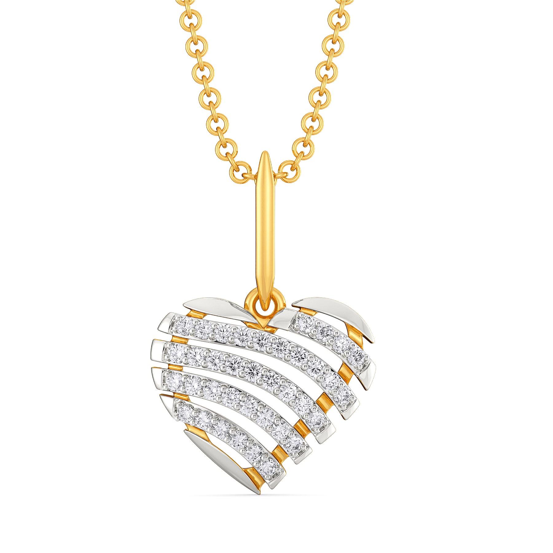 Heart O French Diamond Pendants