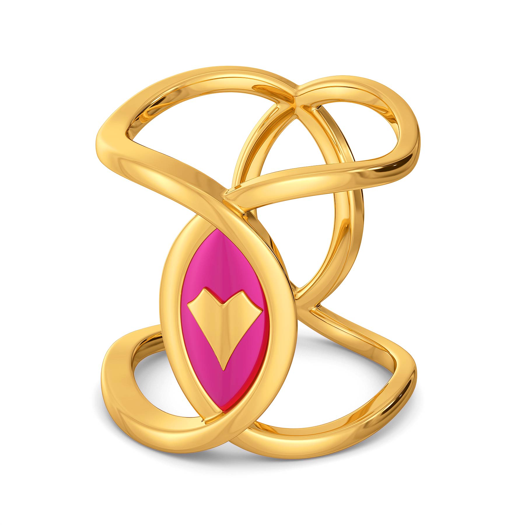 A Fuchsia Date Gold Rings