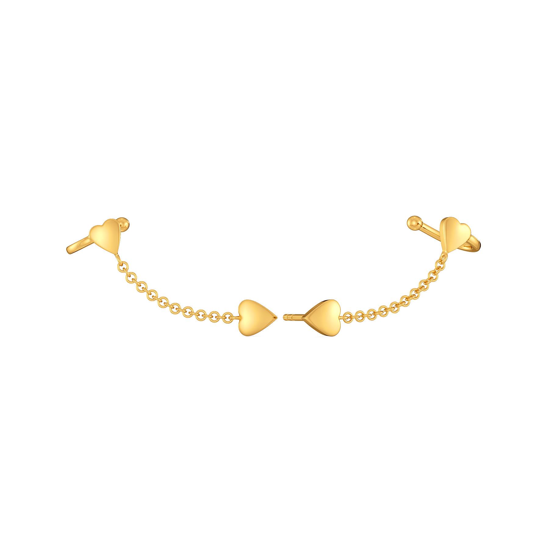 Fringe Connection Gold Earrings