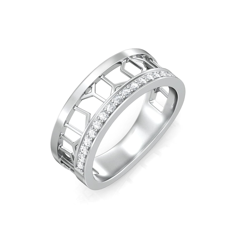 Mesh Effect Diamond Rings