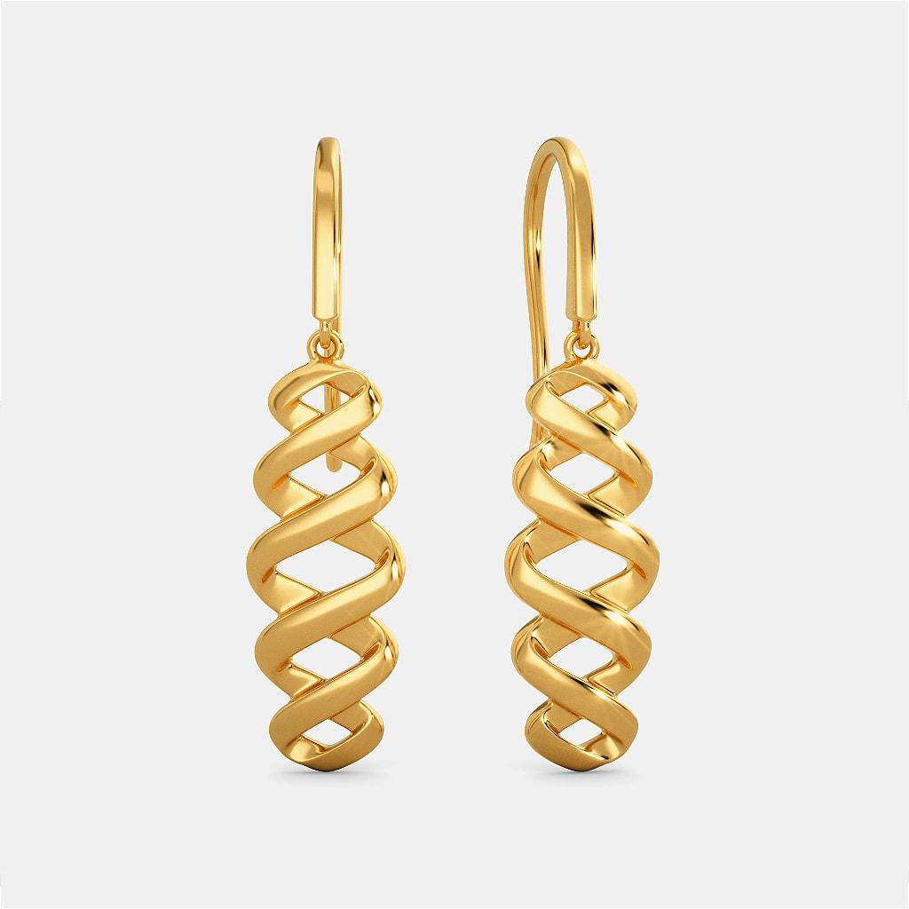 Spiral Goes Viral Gold Earrings