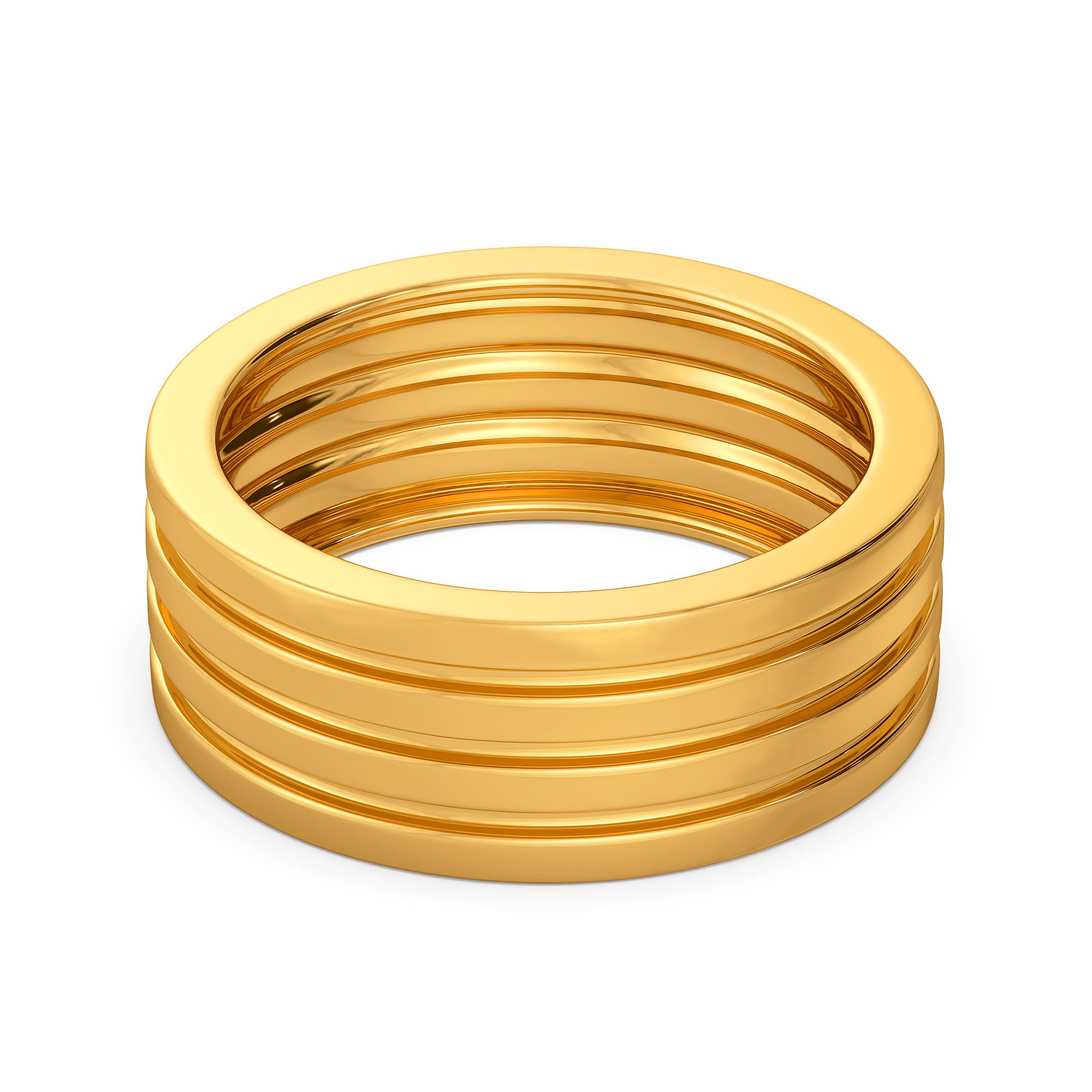 Fold Flow Gold Rings