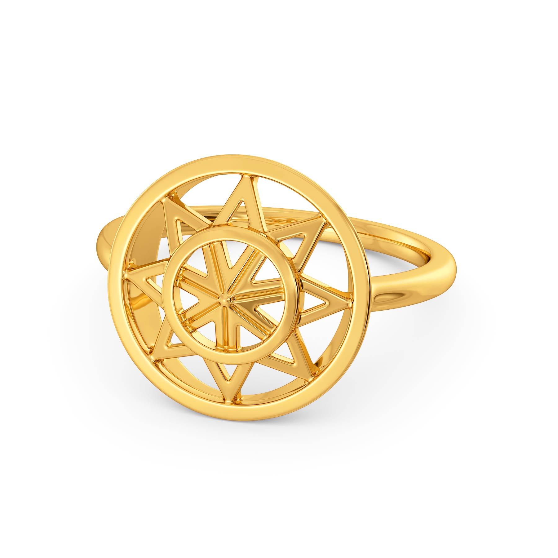 Serene Drapes Gold Rings