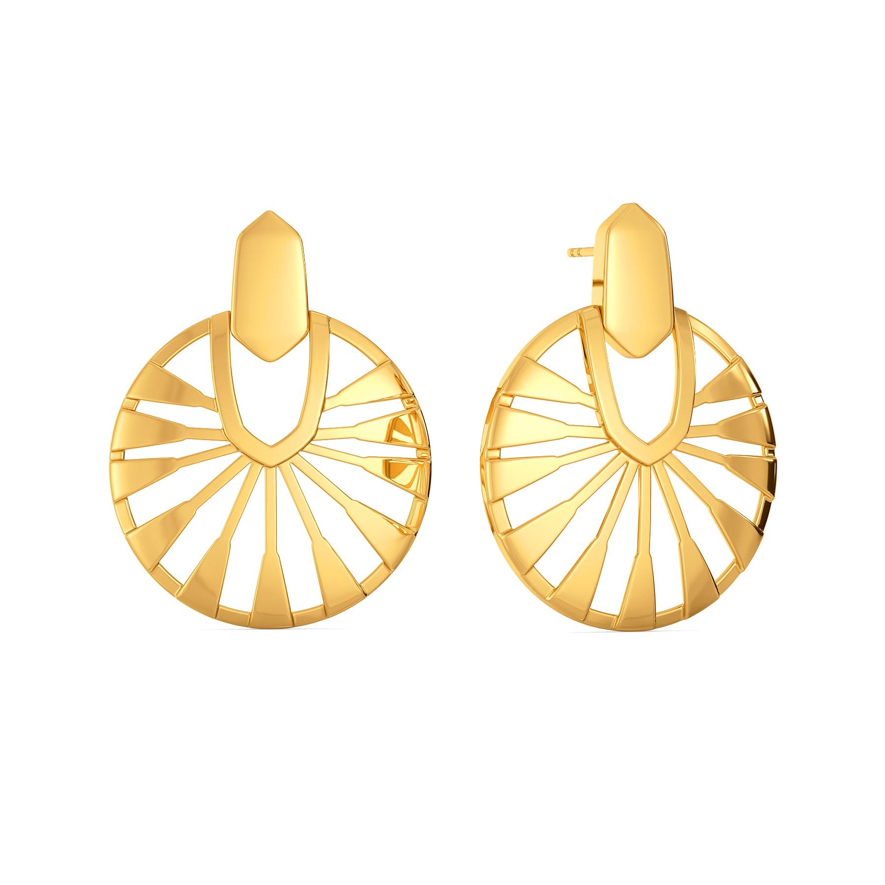 Elegant Boho Gold Earrings