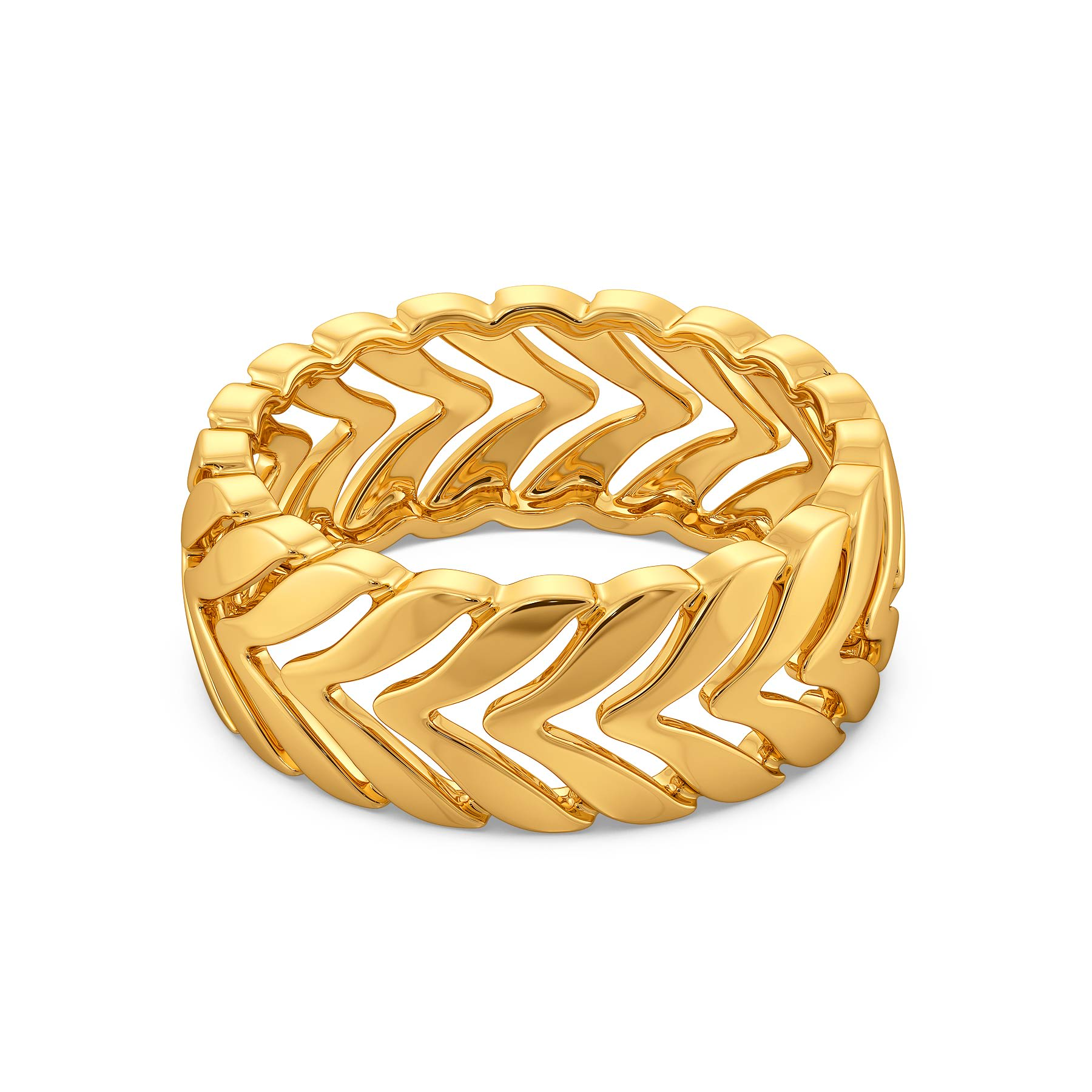 Calm Candors Gold Rings