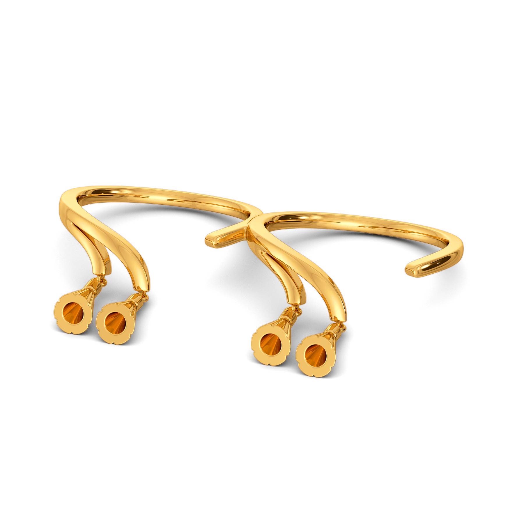 Tassel Tails Gold Rings