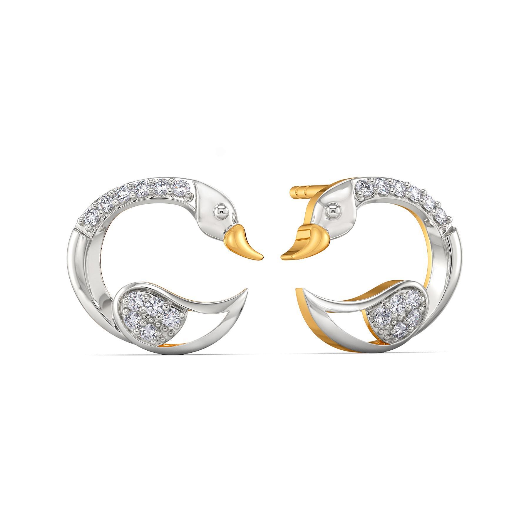 Swan Suave Diamond Earrings