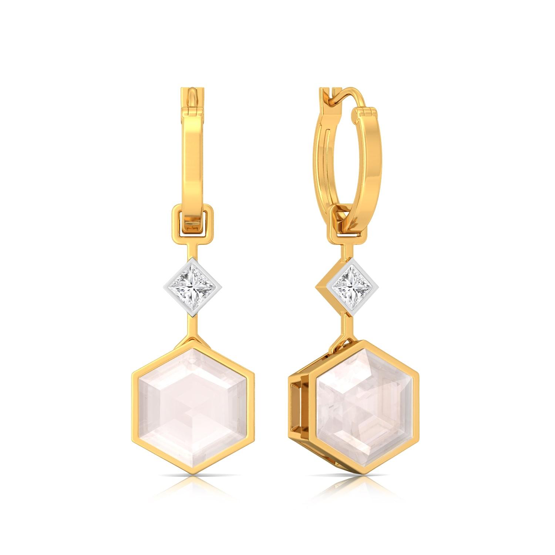 Pop of Pink Gemstone Earrings