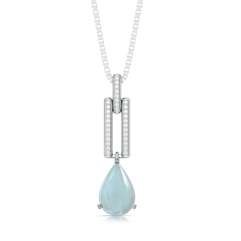 Blue Ice Diamond Pendants