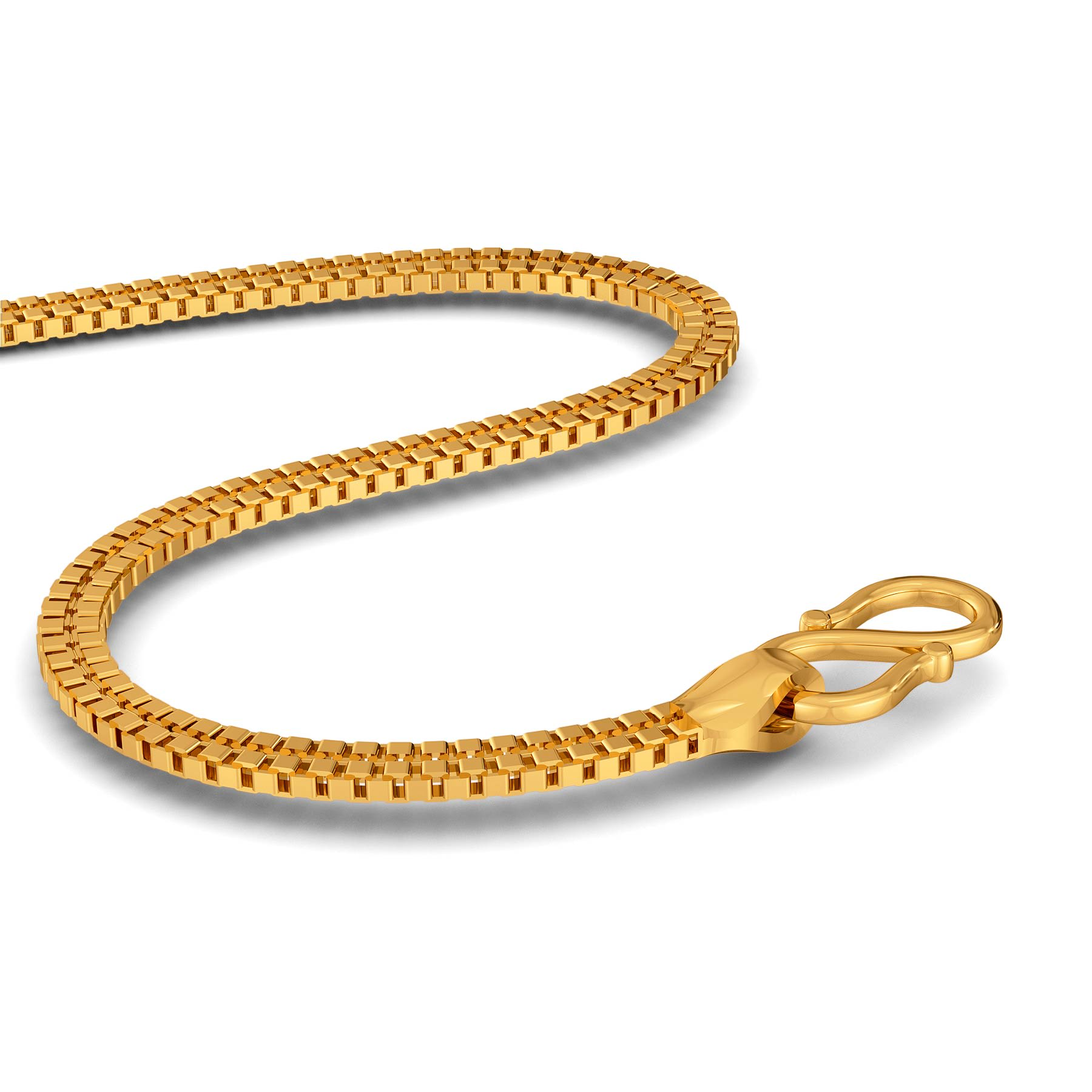22kt Flat Double Box chain Gold Chains