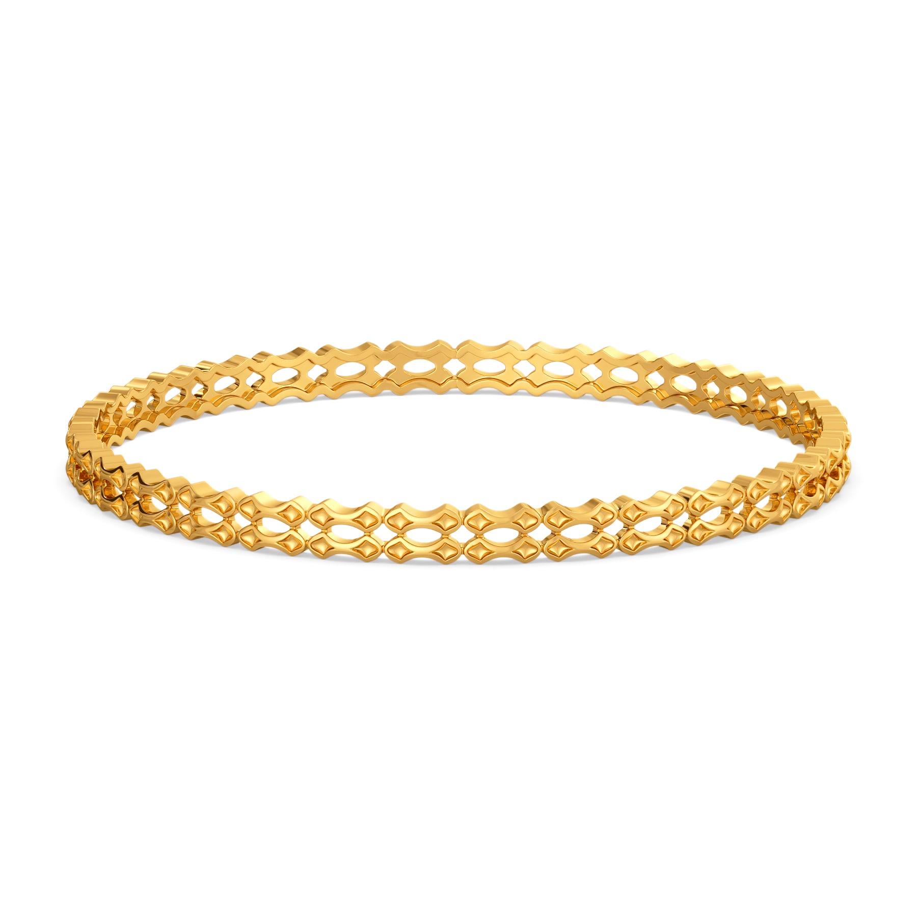Wave O Balance Gold Bangles