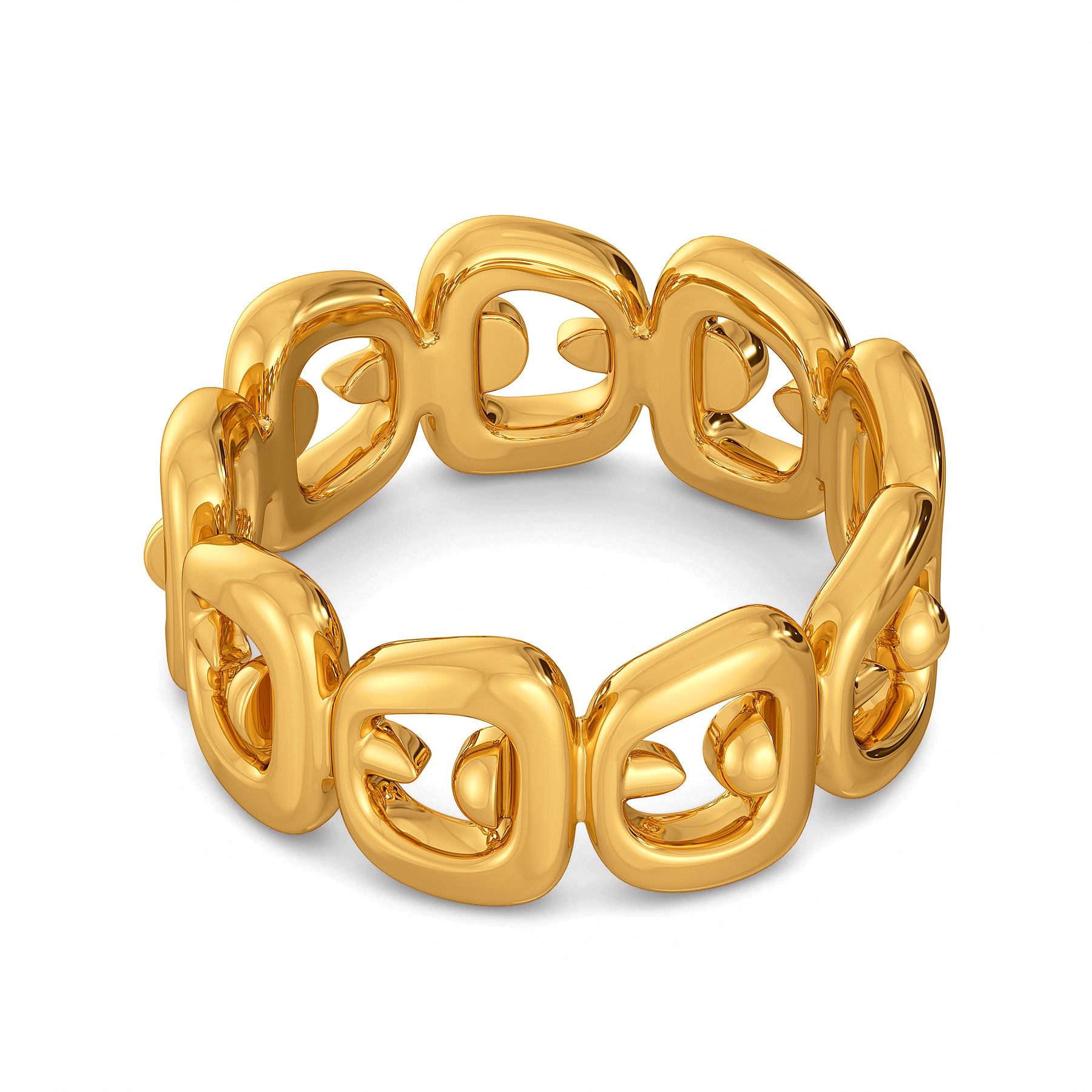 Edgy Links Gold Rings