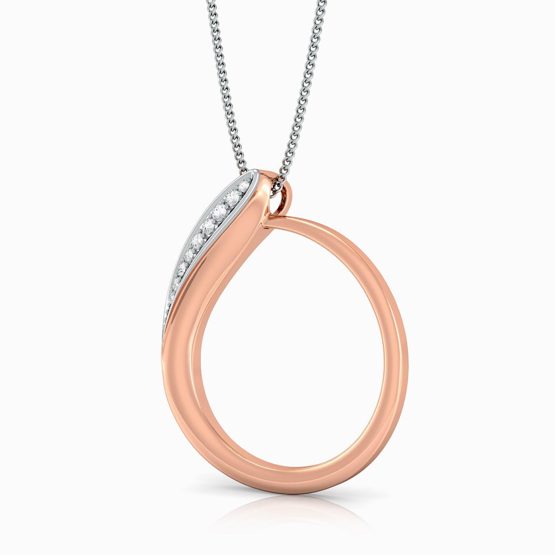 Curlicue Diamond Pendants