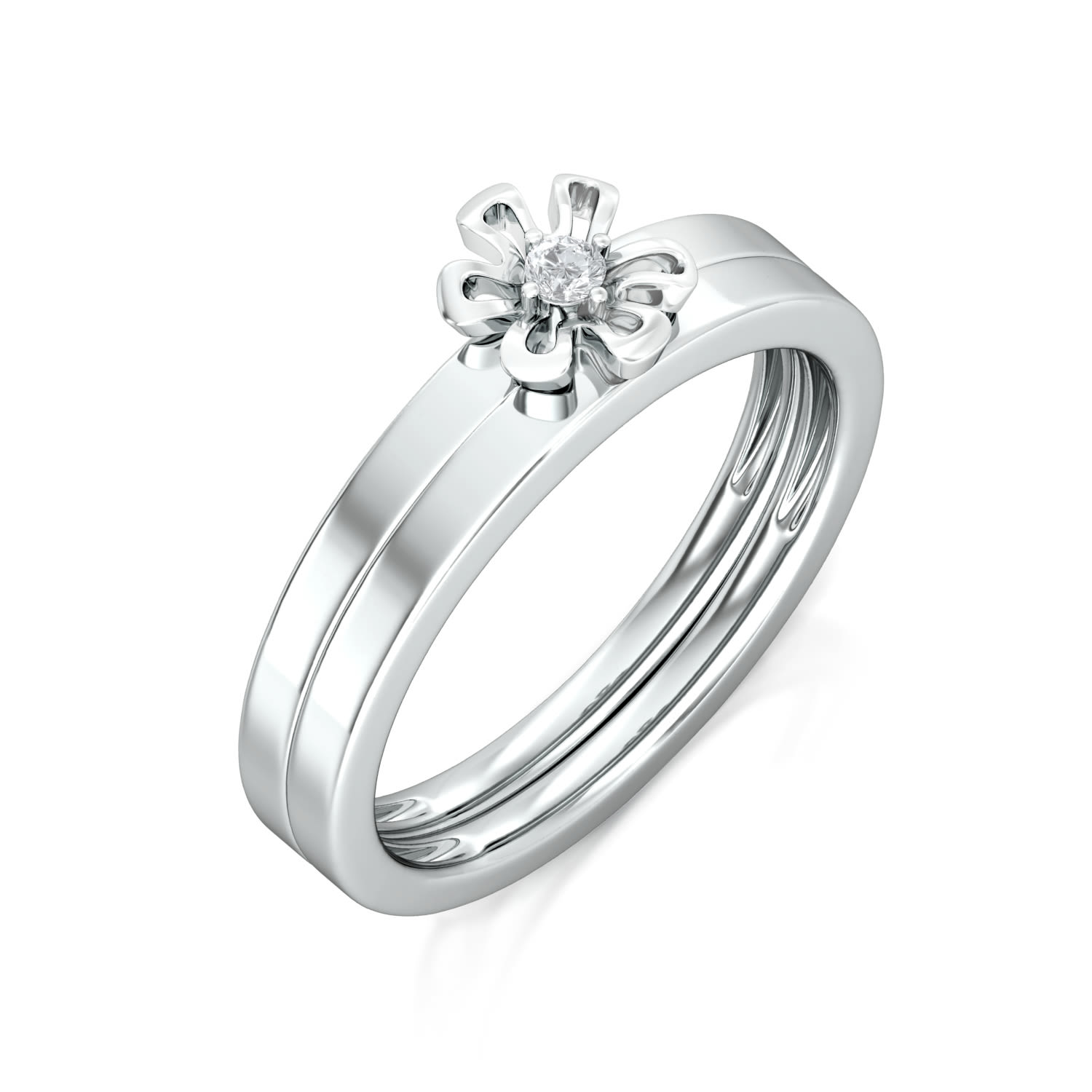 Forget-Me-Not Diamond Rings