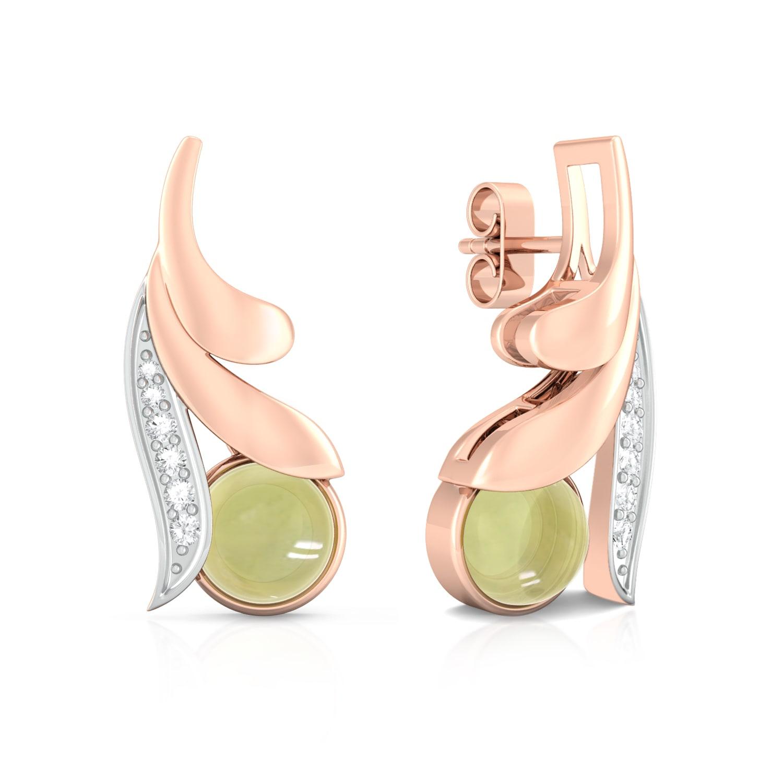 Lime Fleur Diamond Earrings