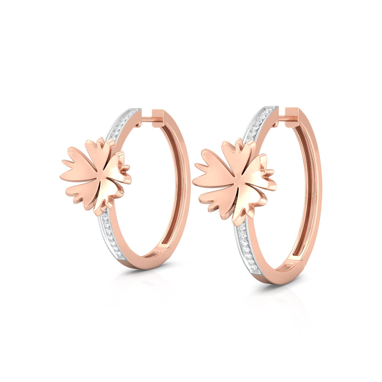 Rosy Daisy Diamond Earrings