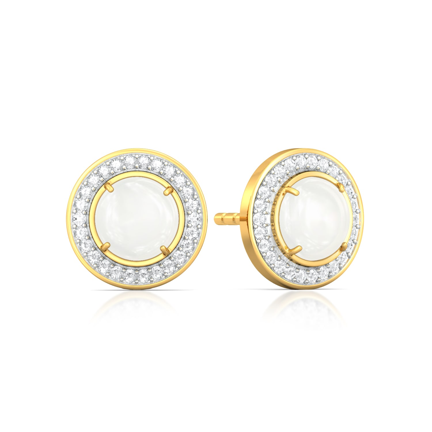 Snow Moon Diamond Earrings