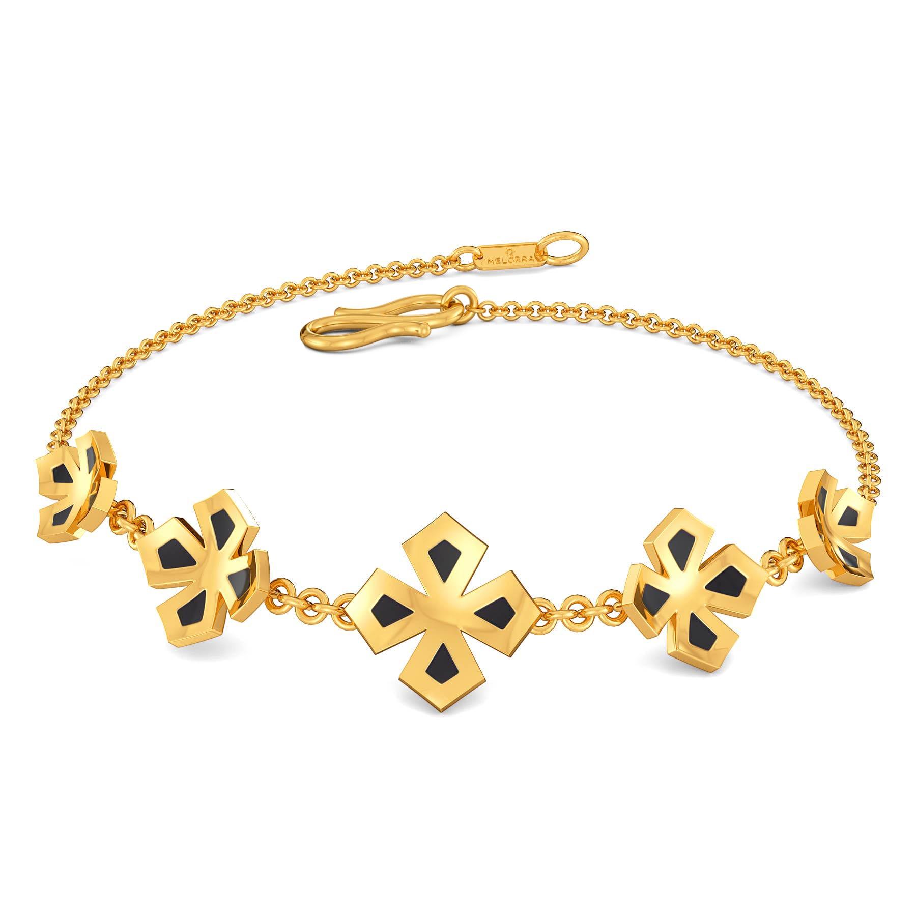 Black N Bloom Gold Bracelets