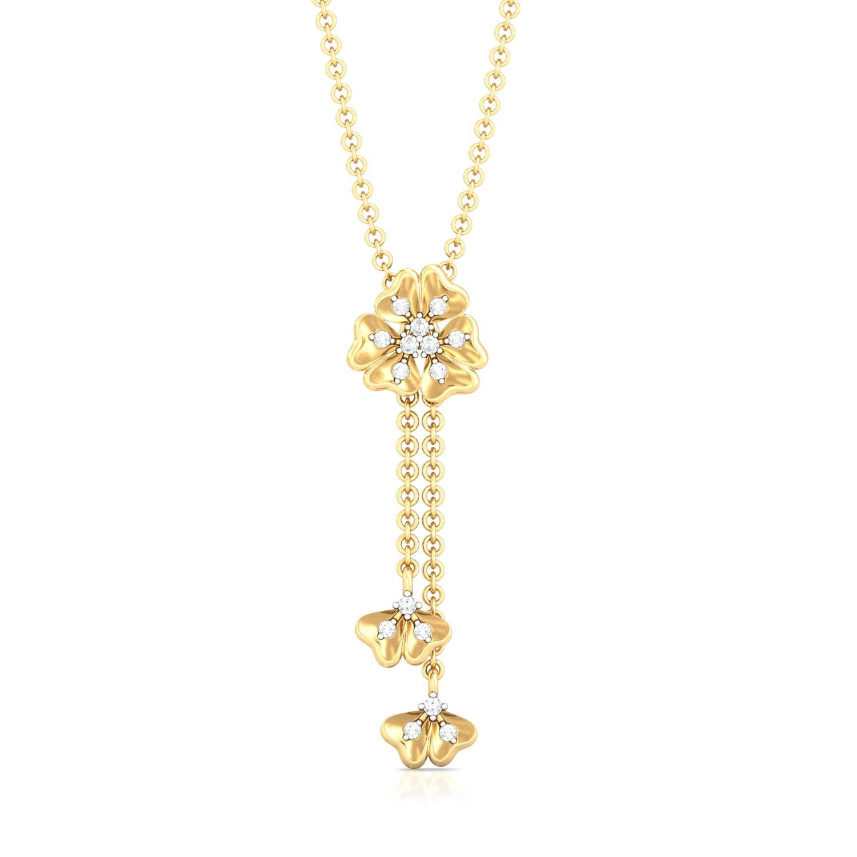 Belle-Flower Diamond Pendants