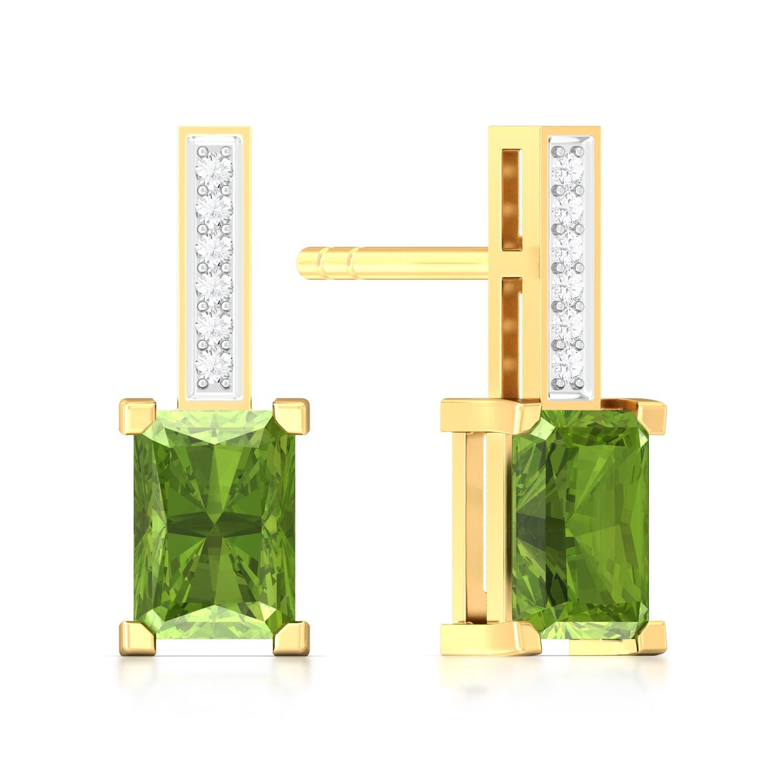 Olive Diamond Earrings