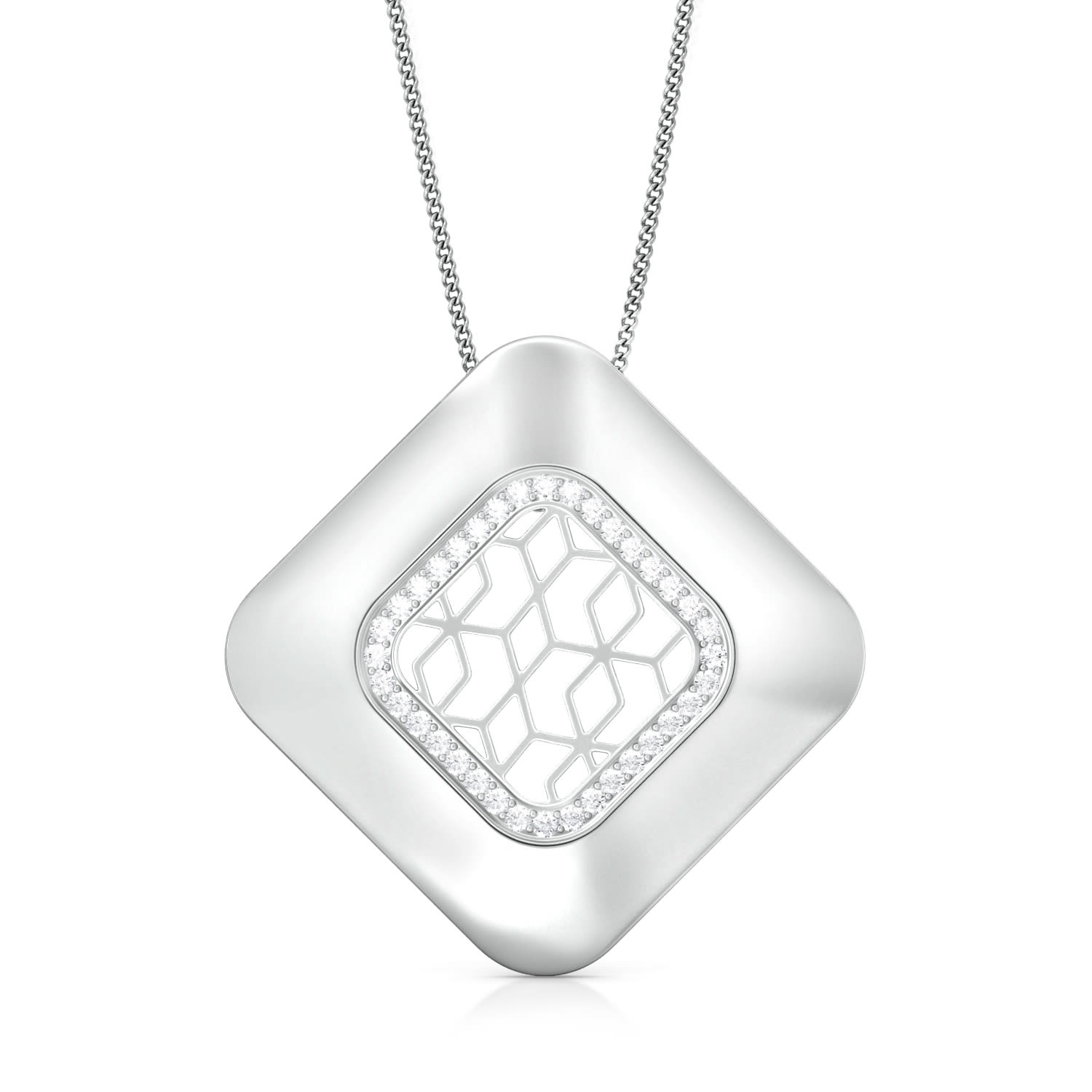 Lattice Lace  Diamond Pendants