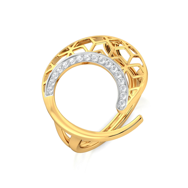 Net Twirl Diamond Rings