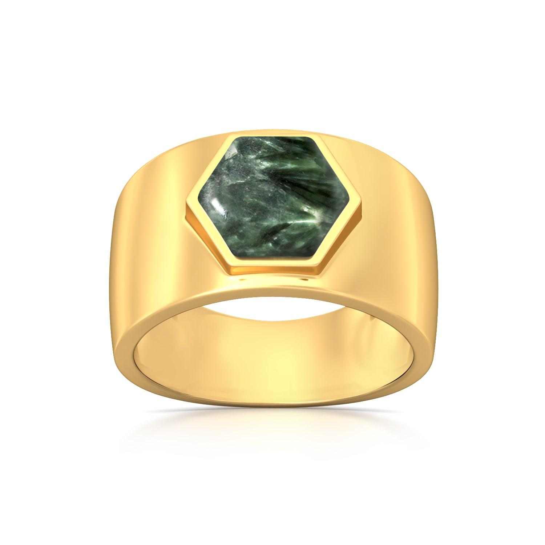 Hexa-Seraphinite  Gemstone Rings