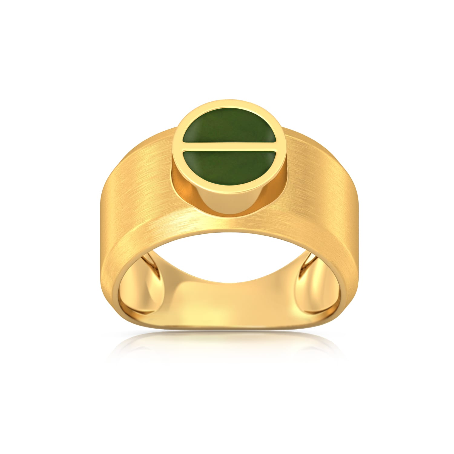 Green Bolts Gold Rings