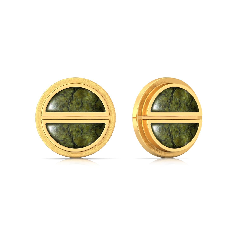 Green Bolts Gemstone Earrings
