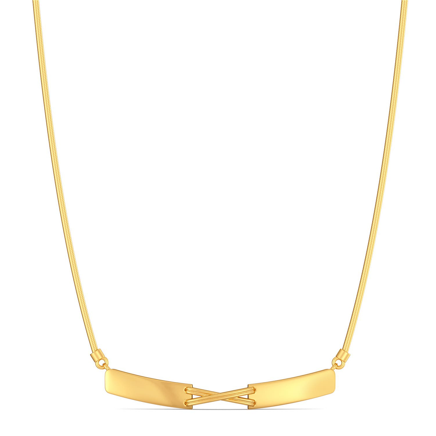 The Cross Bows Gold Necklaces