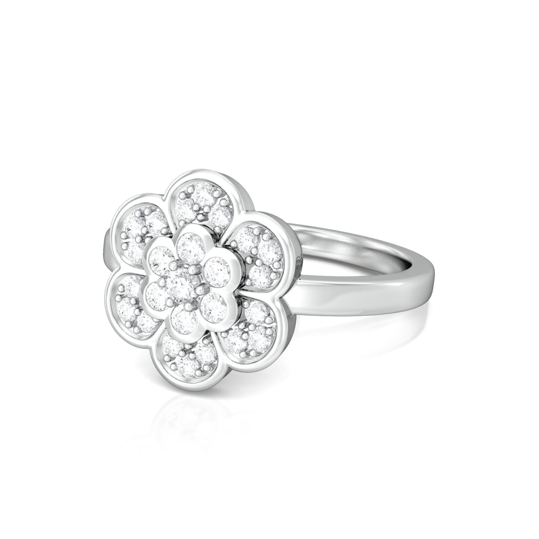 Star Blossom Diamond Rings