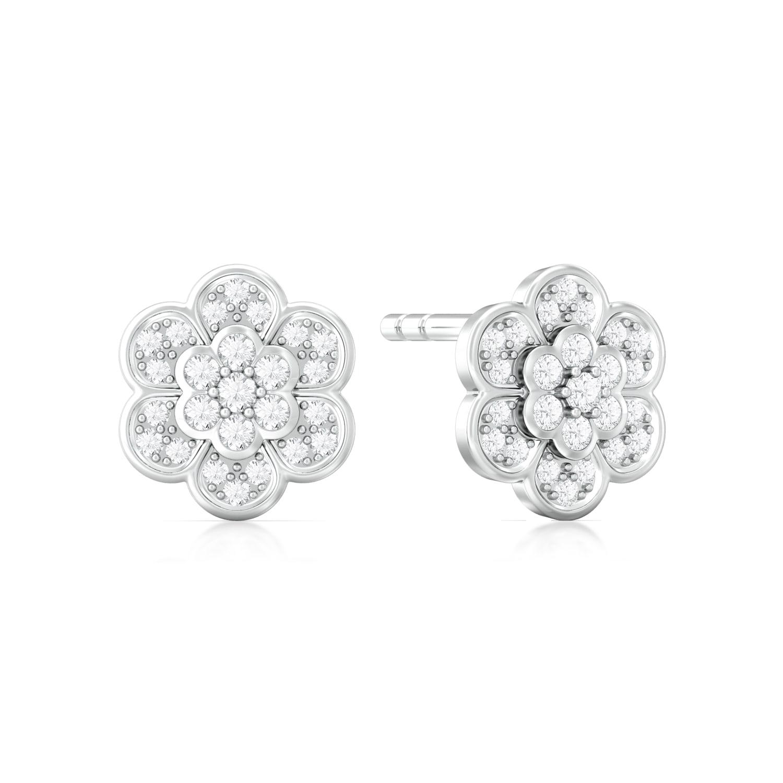 Star Blossom Diamond Earrings