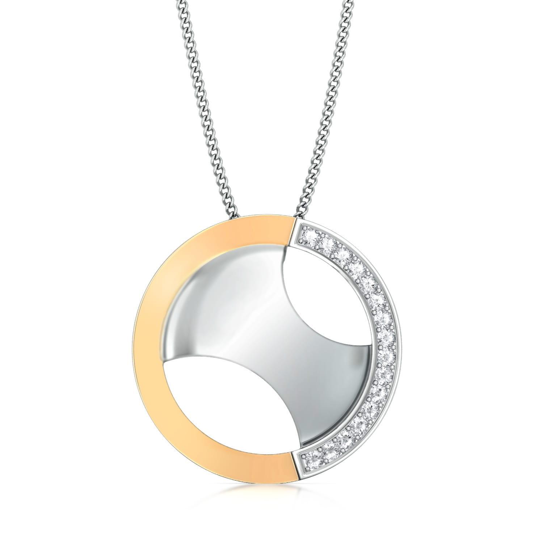 Opposite Arcs Diamond Pendants