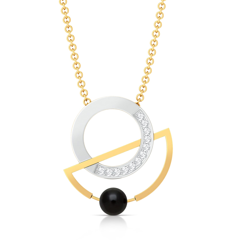 Swing-Ring Diamond Pendants