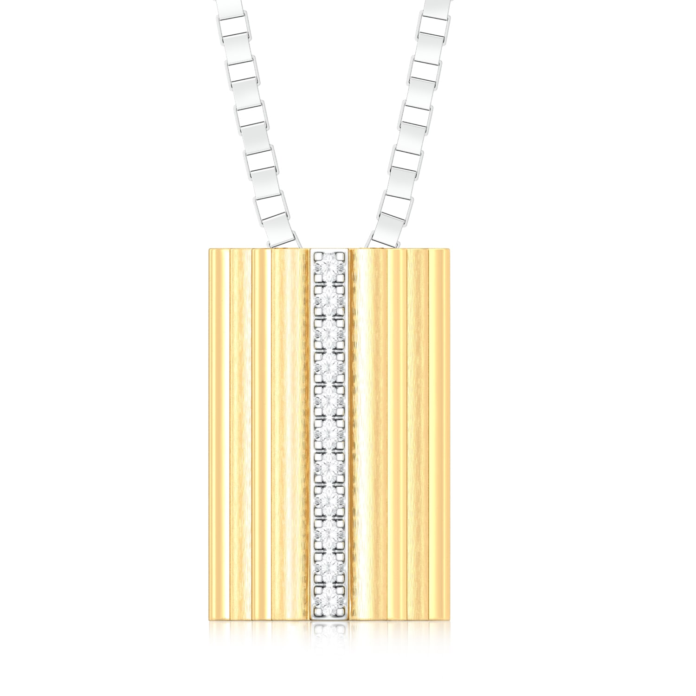 Sun Stripes Diamond Pendants