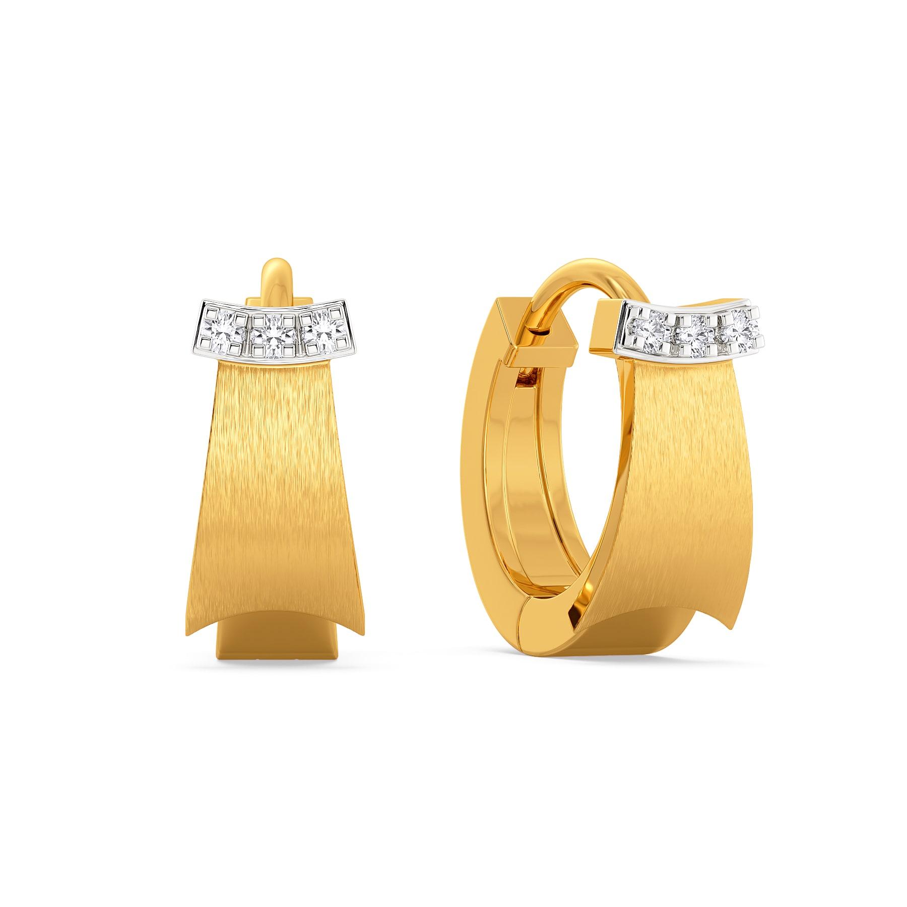 School Girl Ruffles Diamond Earrings