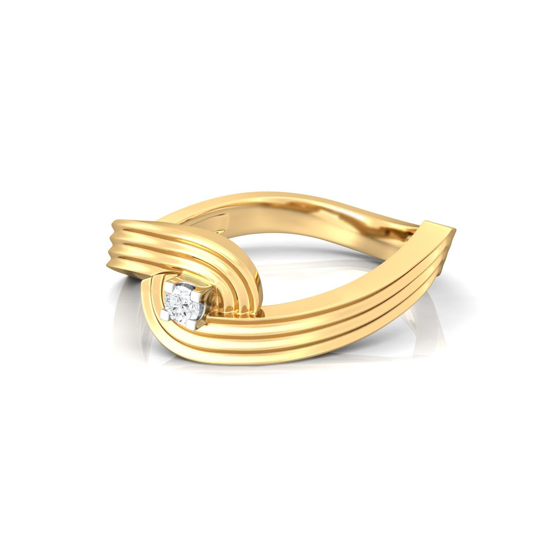 Spiral Star Diamond Rings