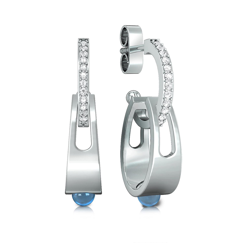 Arctic blue Diamond Earrings
