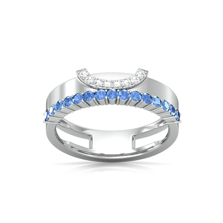 Blue lagoon Diamond Rings